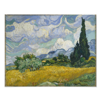 Wheat Field with Cypresses by Vincent van Gogh Photo