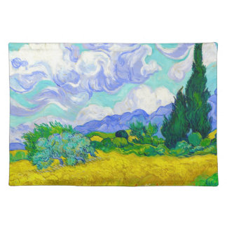 Wheat Field with Cypresses by Vincent Van Gogh Placemat