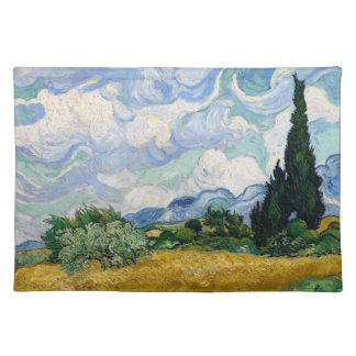 Wheat Field with Cypresses Placemat