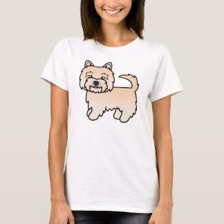 Wheaten Norwich Terrier Cartoon Dog T-Shirt