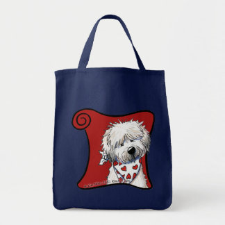 (Wheaten Sweetie) Grocery Tote Bag