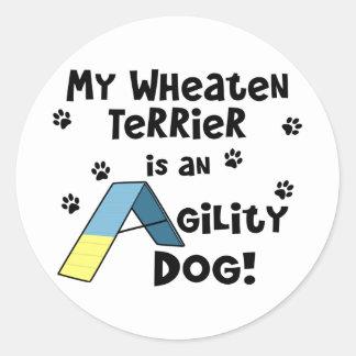 Wheaten Terrier Agility Dog Stickers