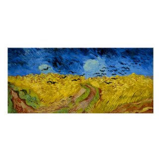 Wheatfield with crows - Vincent van Gogh (1890) Poster