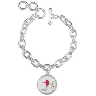 (Wheel Posture III) Round Charm Bracelet, Silver