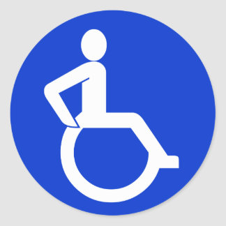 Wheelchair Accessibility Sign Classic Round Sticker