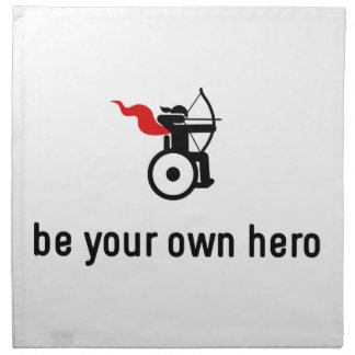Wheelchair Archery Hero Napkin