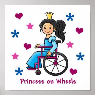 Wheelchair Princess Poster