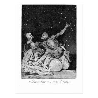 When day breaks we will be off by Francisco Goya Postcard