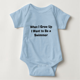 When I Grow Up I Want to Be a Swimmer Baby Bodysuit
