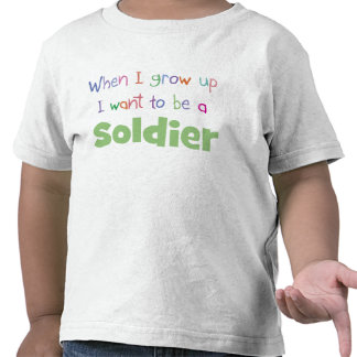 When I Grow Up Soldier Tee Shirt