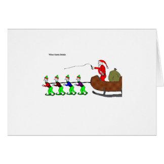 "When Santa Drinks (""Elves"") Card"