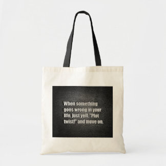 WHEN SOMETHING GOES WRONG IN YOUR LIFE JUST YELL P CANVAS BAG