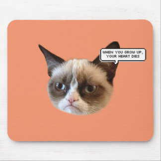 When you Grow Up, Your Heart Dies Cat Mousepad