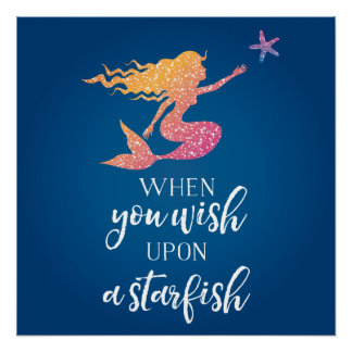 When you wish upon a starfish poster