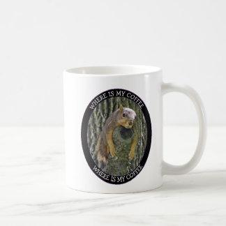 Where is my Coffee,Tired Squirrel Photo Coffee Mug