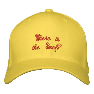 where is the beef?- Hat