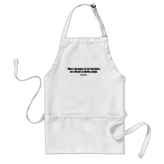 Where One Begins By Burning Books Aprons