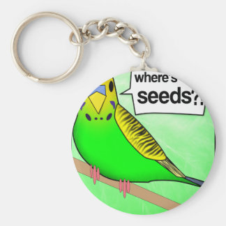 Where's The Seeds? Basic Round Button Key Ring