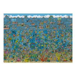 Where's Waldo Deep Sea Divers Poster