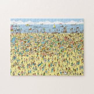 Where's Waldo on the Beach Jigsaw Puzzle