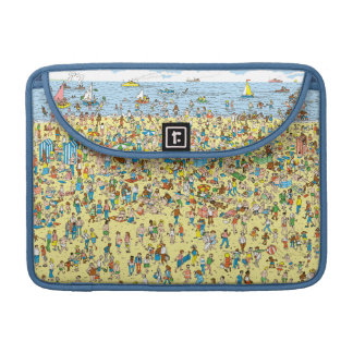 Where's Waldo on the Beach MacBook Pro Sleeve