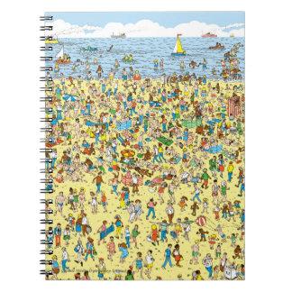 Where's Waldo on the Beach Spiral Notebook