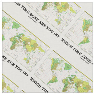World map fabric zazzle which time zone are you in world map fabric gumiabroncs Image collections