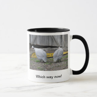 Which Way! Guinea fowl Mug
