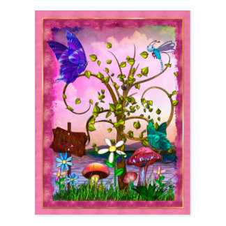 Whimsey Gardens Fantasy Art Postcard