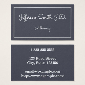 Whimsical and Basic Attorney Business Card