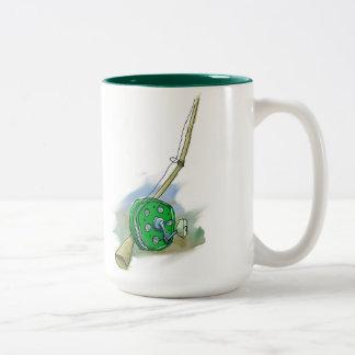 Whimsical Antique Fishing Reel Coffee Mugs