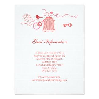 Whimsical Bird Cage Wedding Information Card