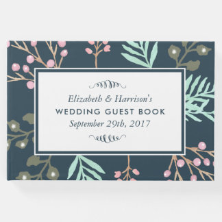 Whimsical Botanical Berry Wedding Guest Book