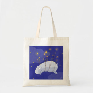 Whimsical Canvas Tote: Now with a cute hippo