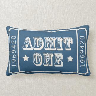 Whimsical Circus Theatre Ticket Admit One Lumbar Cushion