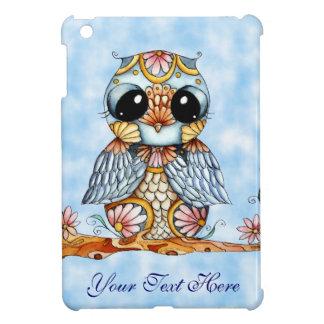 Whimsical Colorful Owl iPad Mini Case Vertical