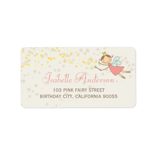Whimsical Cute Sweet Fairy Stars Address Labels