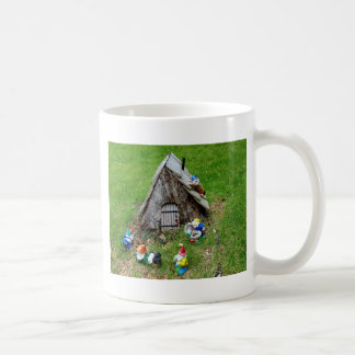 Whimsical Fantasy Outdoor Gnomes With House Coffee Mug