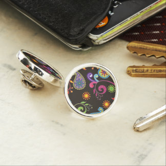 Whimsical Floral Design Lapel Pin