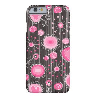Whimsical Flowers in Pink iPhone 6 case Barely There iPhone 6 Case