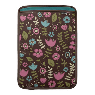 Whimsical Flowers Nature Pattern MacBook Sleeve