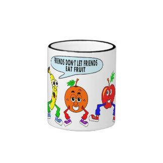 Whimsical Fruit Friends Mug Apple Banana Orange