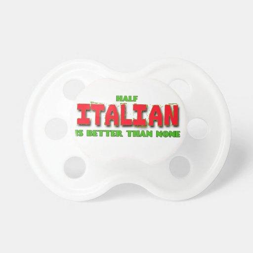 Whimsical Half Italian Pacifier