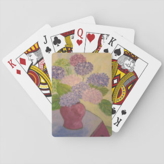 Whimsical Hydrangea Playing Cards