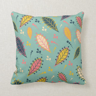 Whimsical leaf pillow