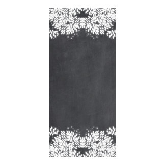 Whimsical Leaves and Stars on Chalkboard Rack Card Template