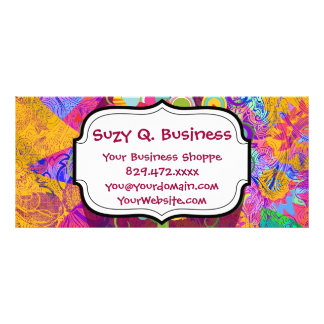 Whimsical Lollipop Candy Tree Business Cards Customised Rack Card