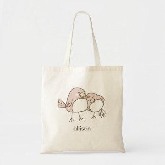 Whimsical Lovebirds Tote Bag