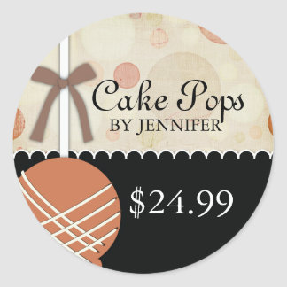 Whimsical Modern Bakery Price Tags Round Sticker