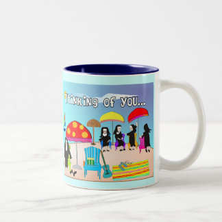 Whimsical Nun Art Gifts & Cards Two-Tone Coffee Mug